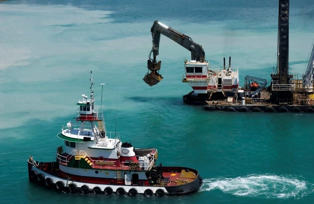 tugs and dredges